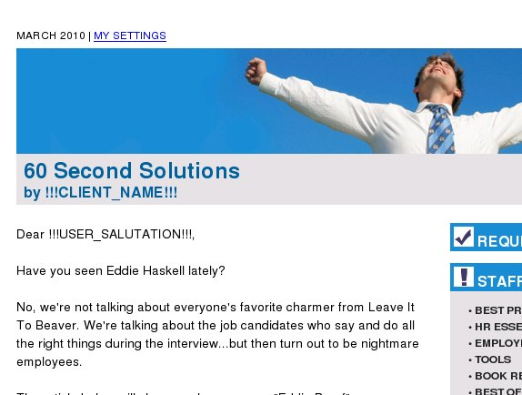 60 Second Solutions: Watch Out for Eddie Haskell