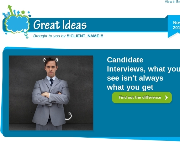 Candidate Interviews, what you see isn't always what you get