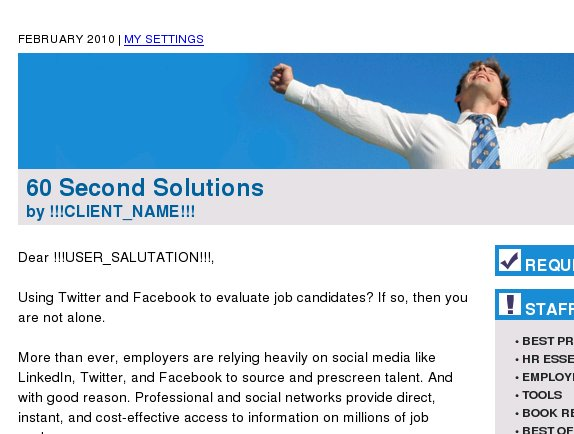60 Second Solutions: Avoid the perils of screening via social networks